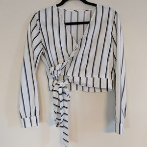Tops - Cropped Wrap Blouse